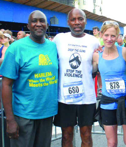 Running and walking for peace in Harlem