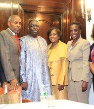 Senegal's president Macky Sall returns to Harlem