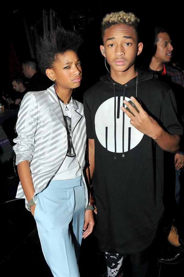 NEW YORK, NY - FEBRUARY 27: Willow Smith and Jaden Smith attend BET's Rip The Runway 2013:Backstage Hammerstein Ballroom on February 27, 2013 in New York City.  (Photo by Theo Wargo/Getty Images for BET's Rip The Runway)