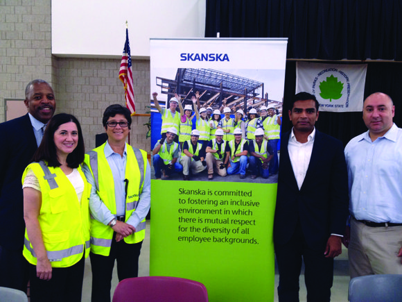 Project teams from Skanska USA anticipated the arrival of more than 250 Upper Manhattan-based minority,...