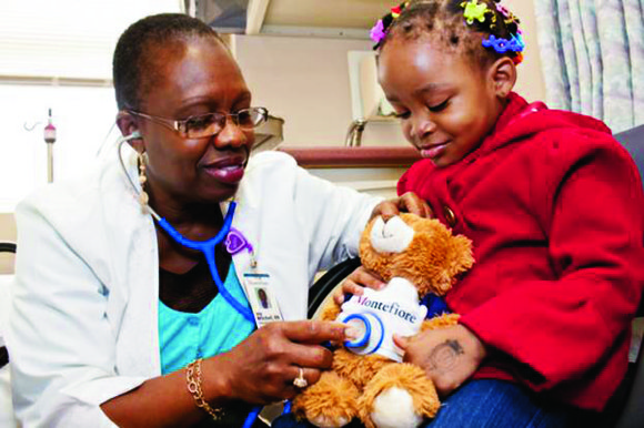 "Over 200 children, along with their ""sick"" teddy bears, descended on Montefiore's North Hospital Emergency..."