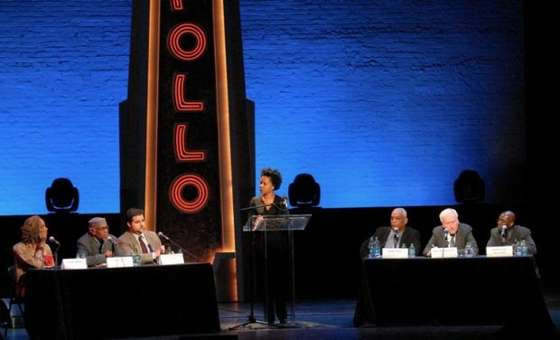 Second 'Uptown Hall' event at Apollo Theater hosts debate watch party