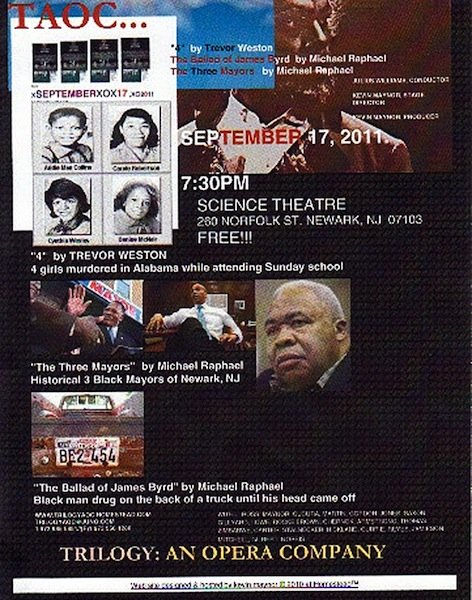 Trilogy: An Opera Company to Present Three Great One-Act Operas in Newark, NJ: On Saturday,...
