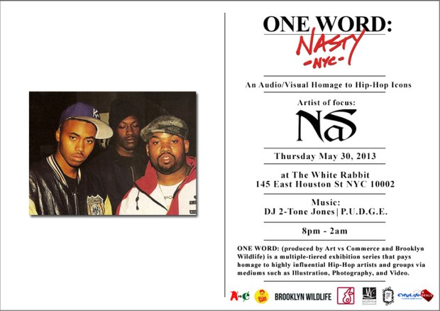 One Word Art Exhibition with artist focus Nas