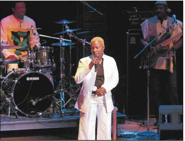 Angelique Kidjo performing at Carnegie Hall