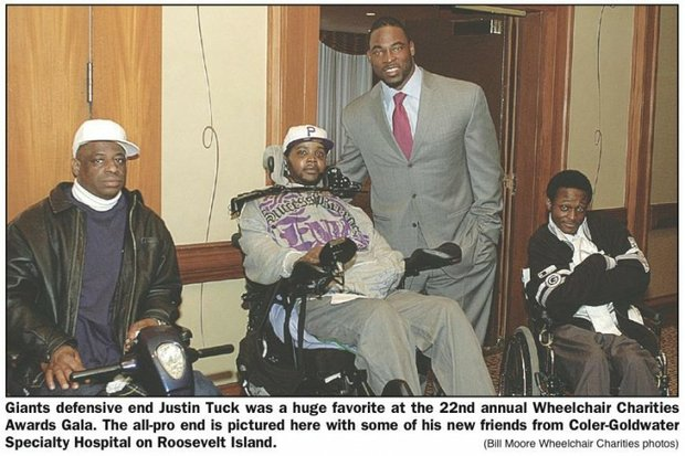 Pro stars Justin Tuck, Chris Duhon aid Wheelchair Charities