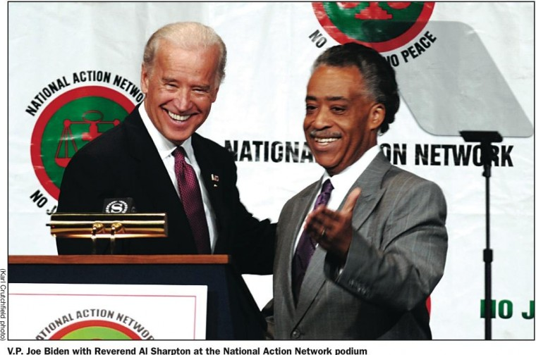 Image result for biden with sharpton