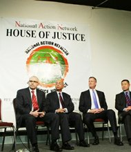 Presumptive mayoral hopefuls questioned by Sharpton