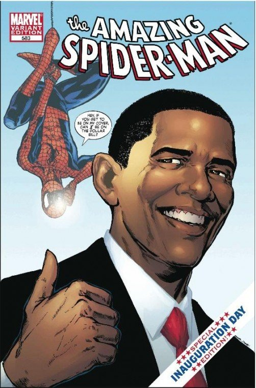 Spider-Man meets Obama
