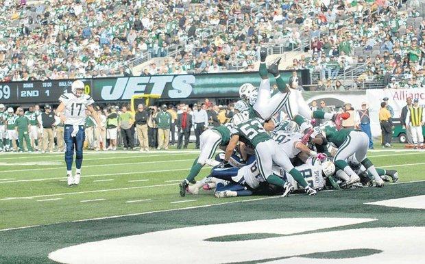 Jets' rebuilt offensive line is finally beginning to gel