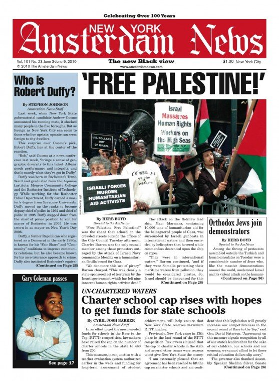 """Free Palestine, Free Palestine!"" was the chant that echoed on the crowded streets outside the..."