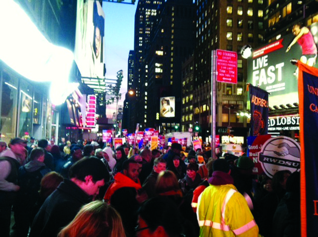 Service workers of all kinds want higher wages, talk fiscal cliff