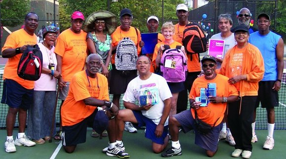 At a ceremony on Saturday, May 5, the tennis courts at Seventh Avenue and 151st...