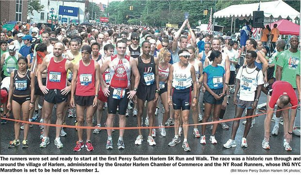 "Thousands turn out, records broken at Percy Sutton Harlem 5K Run ""A Walk for Peace"""