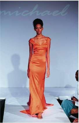 B. Michael designs Elizabeth Alexander's inaugural dress