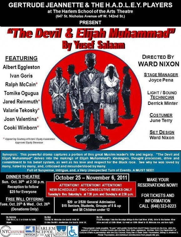 The Devil and Elijah Muhammad Opens at Hsota October 25