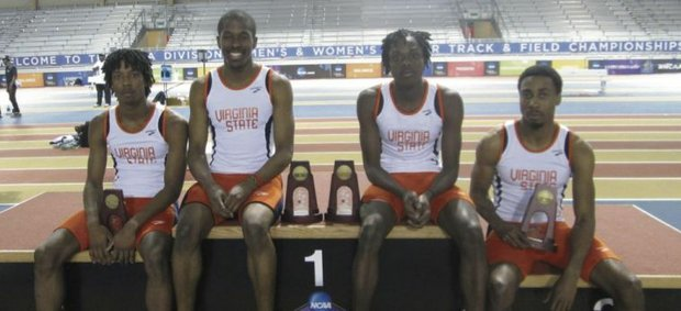 Virgina State ran their way to 10 all-America trophies