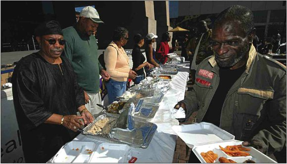 Several homeless people in Harlem made camp once again at the Adam Clayton Powell State...
