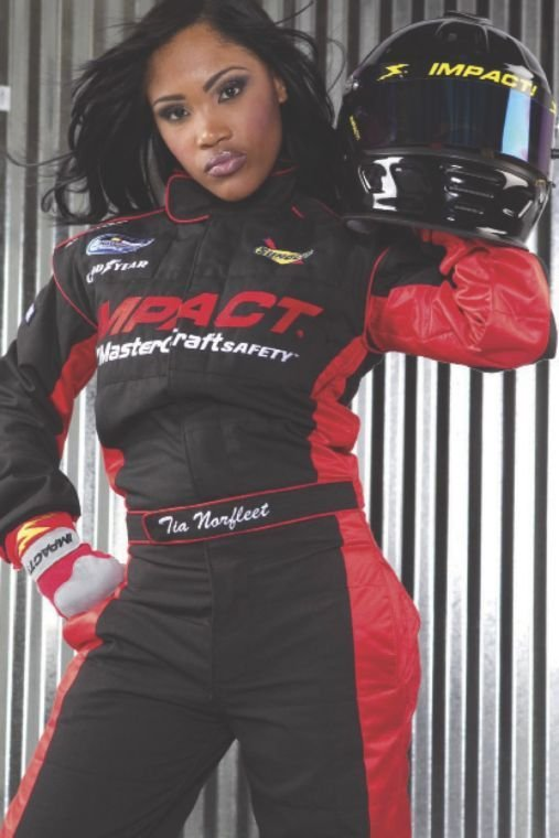 Tia Norfleet is NASCAR's first licensed  African-American female driver