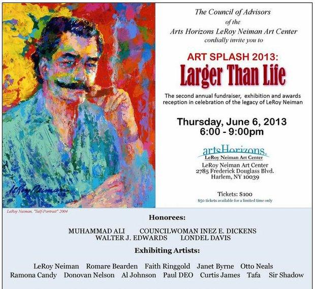 Art Splash 2013 Fundraiser and Larger Than Life Art Exhibit at the LeRoy Neiman Art Center in Harlem