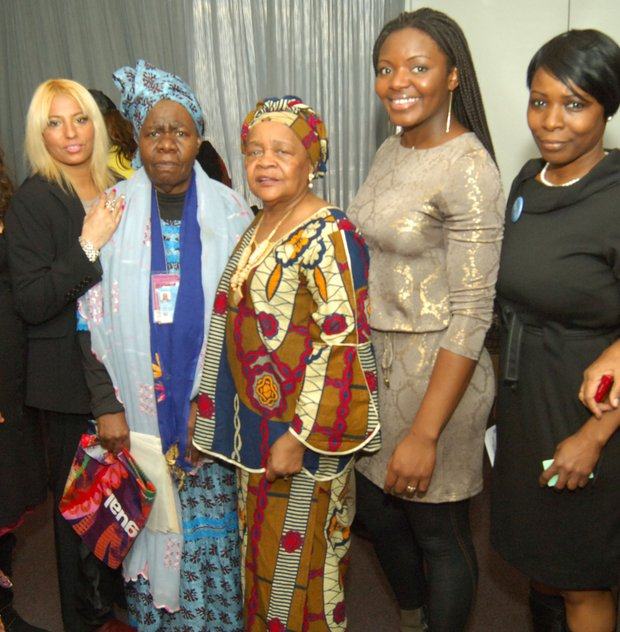 Harlem women at the United Nations