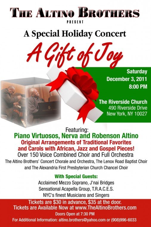 Altino Brothers Present Mega Christmas Concert at The Riverside Church On Saturday, December 3, 2011...