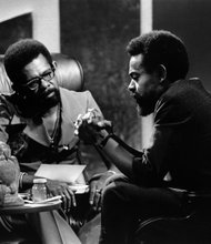 Ellis Haizlip (left) and Amiri Baraka (right).