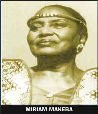 """Miriam Makeba, widely known as """"Mama Africa,""""and whose music was the embodiment of the struggle..."""