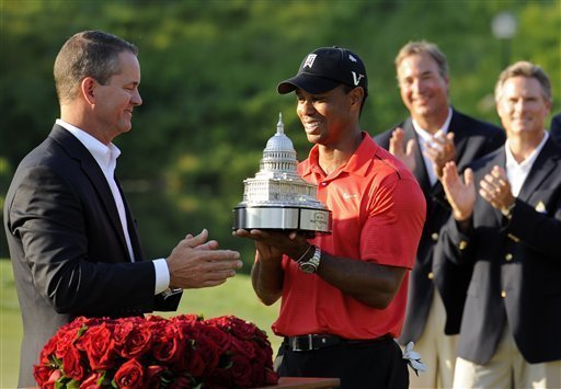 Tiger wins third title of season at the Congressional
