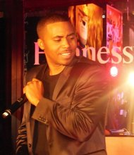 Nas rocks Times Square for Hennessy partnership concert