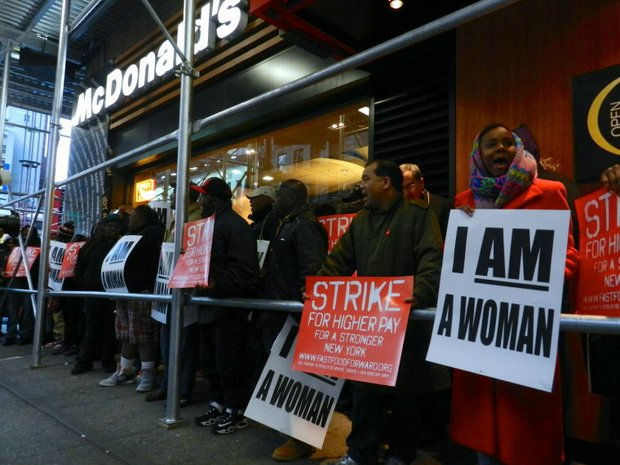 Fast food workers fight for living wages to be put on the menu