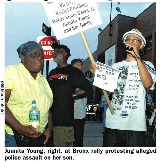 The NYPD is again being harangued for alleged harassment of Juanita Young, who won a...