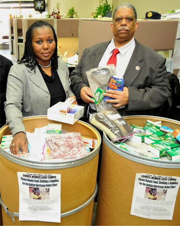 Comrie, HAUP to Lead Southeast Queens Relief Drive for Victims of Haitian Earthquake ST. ALBANS,...