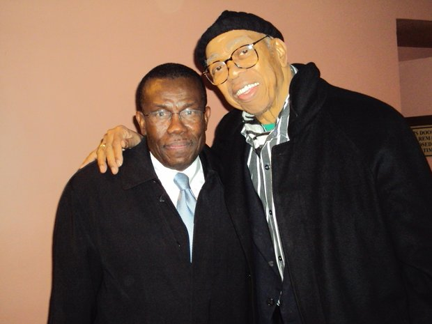 "Felix Augustin, Consul General, Consulate General of  Haiti in NY and Geoffrey Holder, choreographer, composer and costume designer of  ""The Prodigal Prince,"" produced by Alvin Ailey American Dance Theater (Misani photo)"
