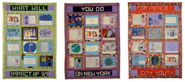 Beautiful 9/11 Peace Story Quilt at the Met