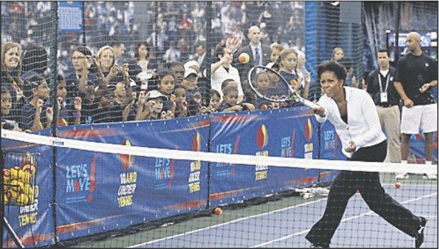 First lady Michelle Obama talks Let's Move at U.S. Open