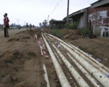 A gas ire that burned for 46 days off Nigeria's coast has been extinguished, according...