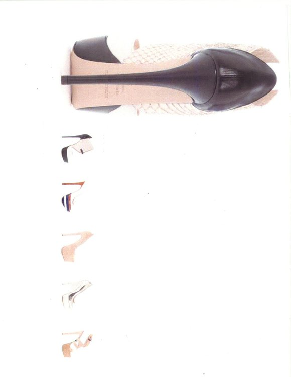 For spring footwear, the heel is high and the cut is edgy. Roam, an elegant...