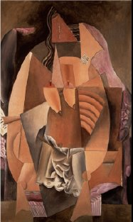 """Woman in an Armchair (Eva)"" from 1913, a masterpiece by Pablo Picasso, is on view..."