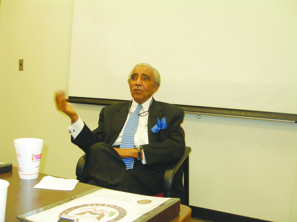 Rep. Charles Rangel kicked off the year with what he hopes will be monthly roundtable...