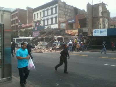 A building collapsed Tuesday in Harlem, leaving scores of people injured and creating a shockwave...