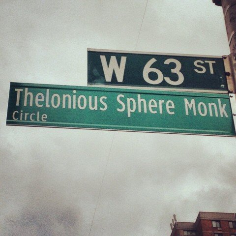 City fixes misspelling of Thelonious Monk's street sign