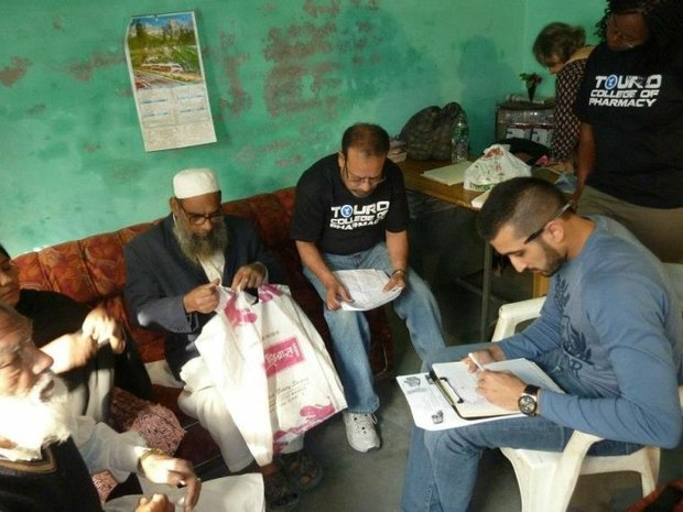 Touro students help with health camps in India
