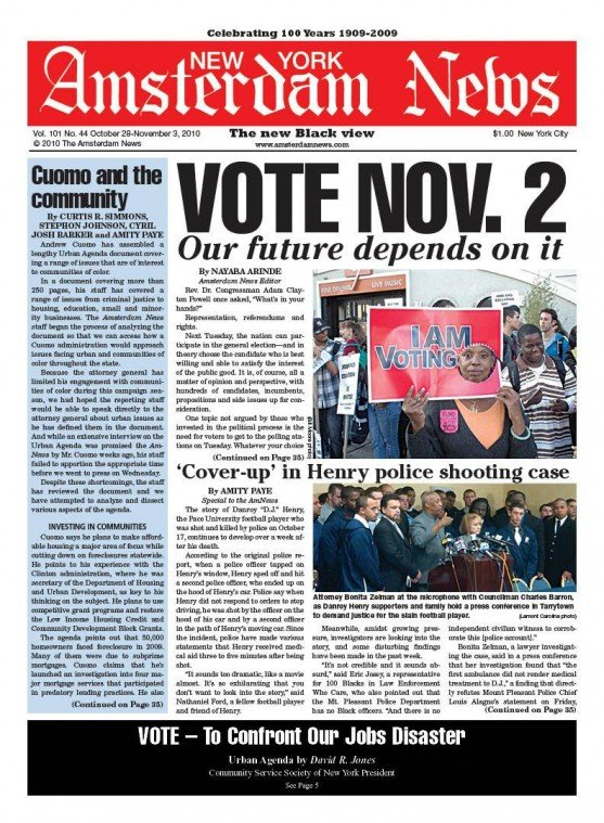 """Rev. Dr. Congressman Adam Clayton Powell once asked, """"What's in your hands? Representation, referendums and..."""
