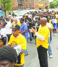 Relatives, friends of gun violence victims stage 'Not in My Hood' march