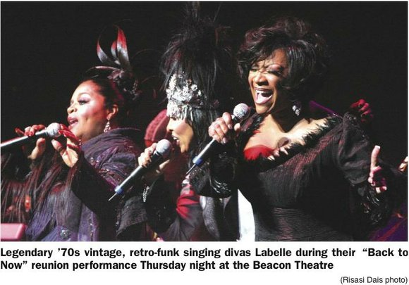 Labelle, the legendary, incomparable, fierce and still-bold and sassy female trio has still got it...