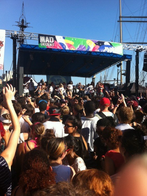 "Saturday July 30, the ""Mad Decent"" block party that will be making its rounds to..."