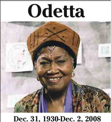 "The ""Queen of American Folk Music,"" Odetta, has made her transition. Although Odetta Gordon's most..."