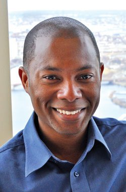 Derek Lumpkins was recently named executive director of Discover Roxbury....
