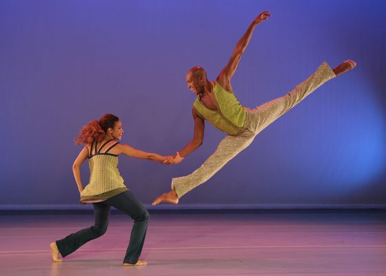 Belen Pereyra and Antonio Douthit of Alvin Ailey American Dance Theater in ?Another Night,? choreographed by Kyle Abraham.